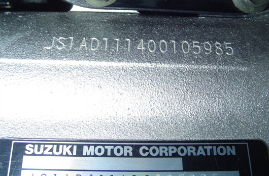 Suzuki Genuine VIN Number